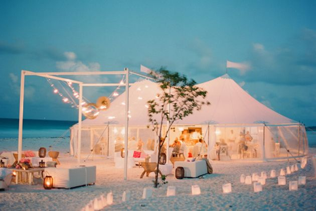 Brides: A Glam Wedding on the Beach in the Bahamas