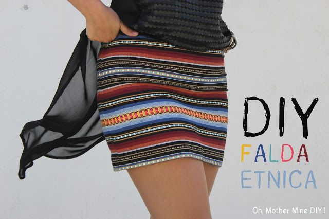 Blog costura y diy: Oh, Mother Mine DIY!!: Costura fácil: mini falda étnica DIY (patrón grati...