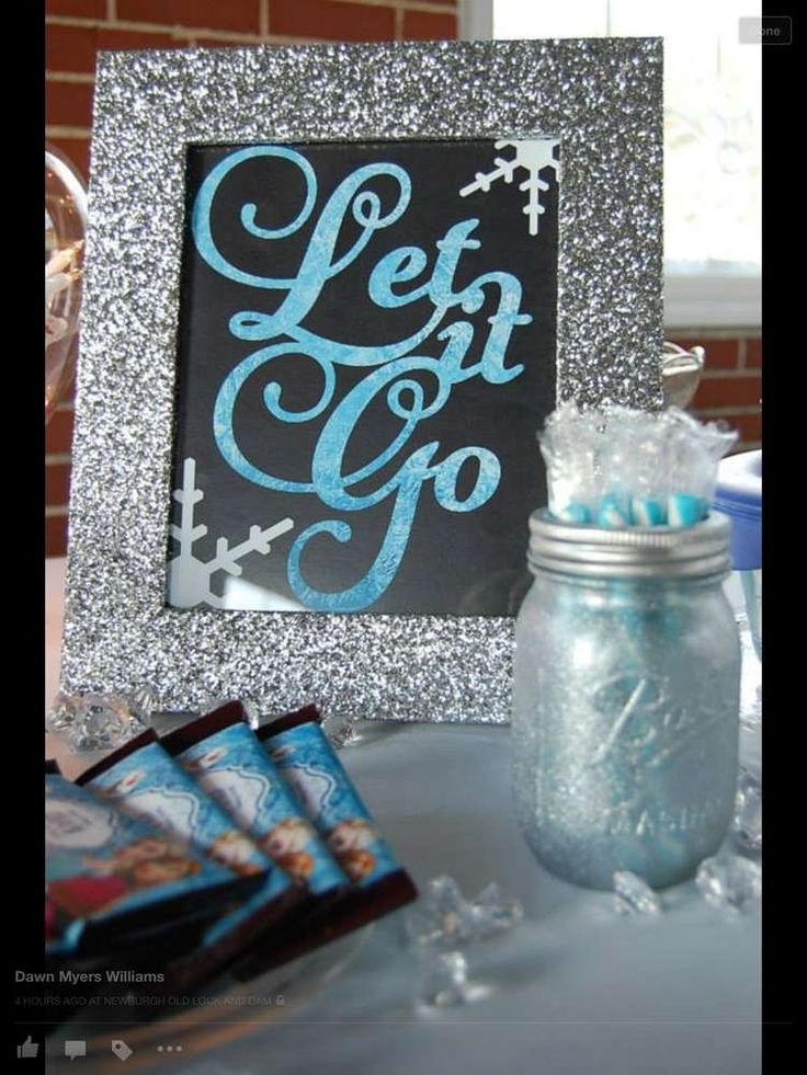 Frozen birthday party sign!  See more party planning ideas at CatchMyParty.com!