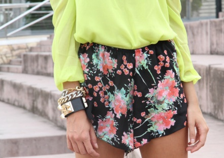 florals with lime.