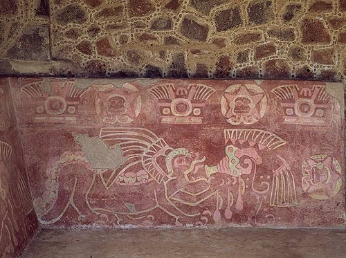 153 best images about teotihuacan on pinterest mexico for Aztec mural painting