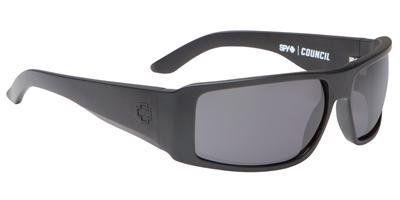 Spy Optic Council Steady Series Polarized Sunglasses - Matte Black/Grey