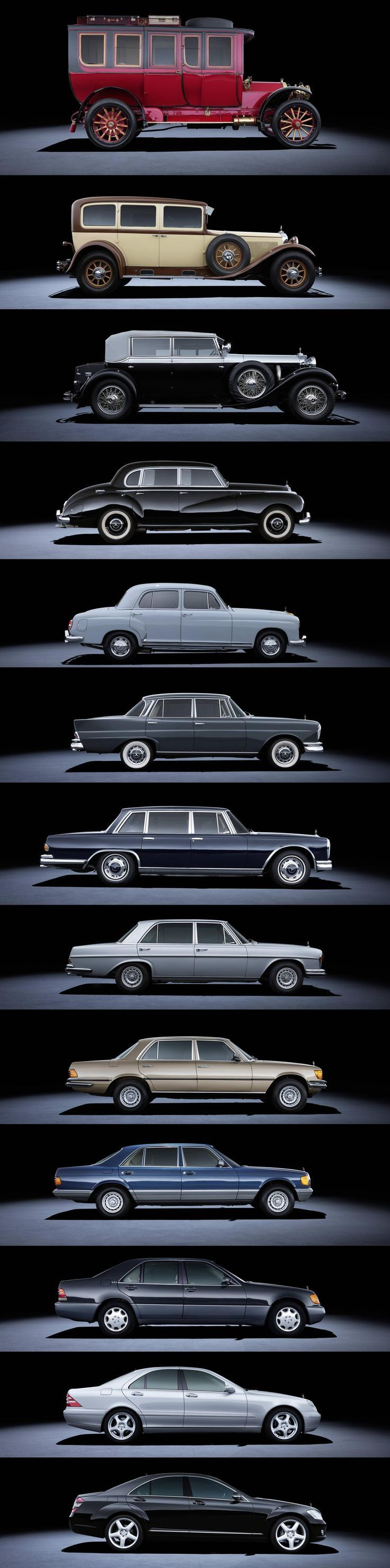 The evolution of the Mercedes Class S. What do you think will be next?