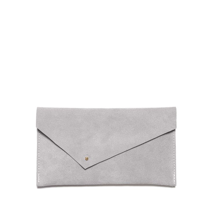 gray envelope clutch purse wallet