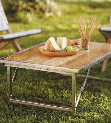 #InspiredGreenLiving   Portable Campaign Coffee Table. Trimmed In Hammered  Metal, The Waxed And Part 60