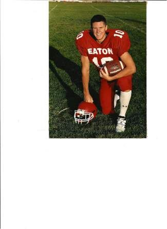 Mitch Unrein poses in his Eaton High School football uniform.