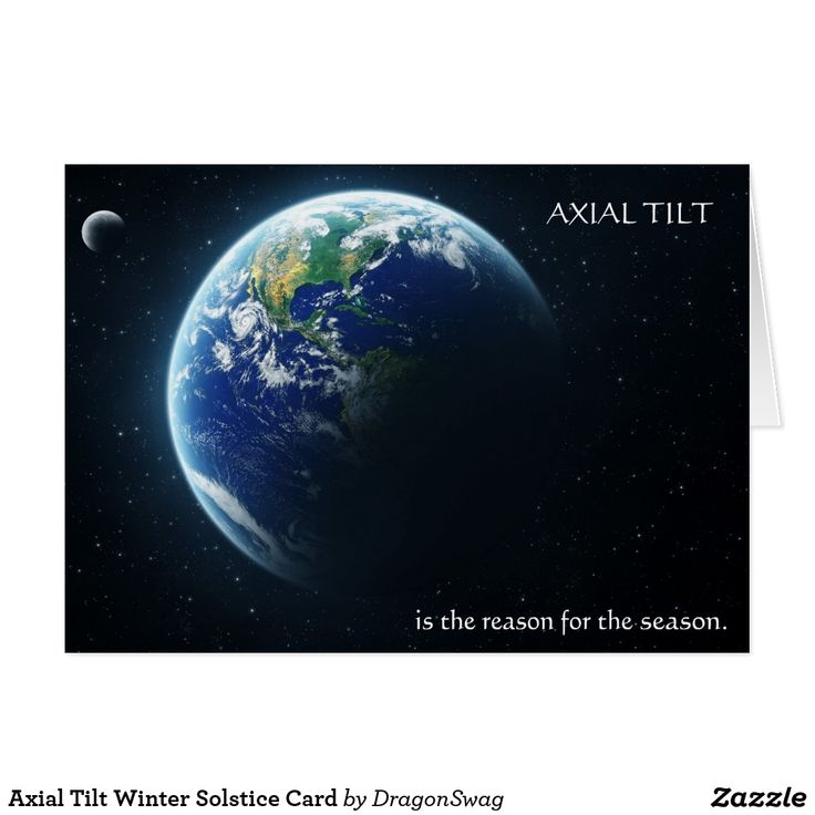 Axial Tilt Winter Solstice Card