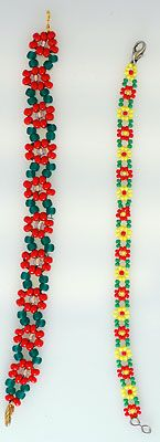 FS - Daisy Chain Bead and Pattern Bead Bracelets - The Guinea Pig