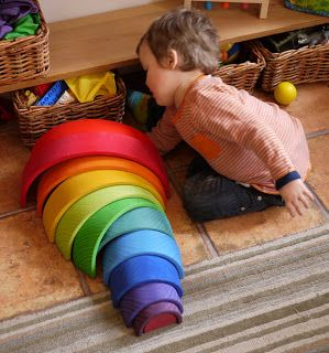 The Rainbow Playhouse: Toy Review: Grimm's Spiel und Holz Extra Large Wooden Stacking Rainbow