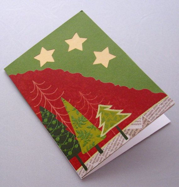 Christmas Card Holiday Card Handmade Cardstock by FamtasticCrafts, $6.00