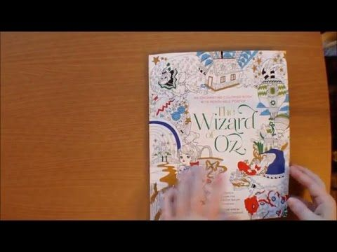 The Wizard Of Oz Colouring Book By Fabiana Attanasio With Story And Poster