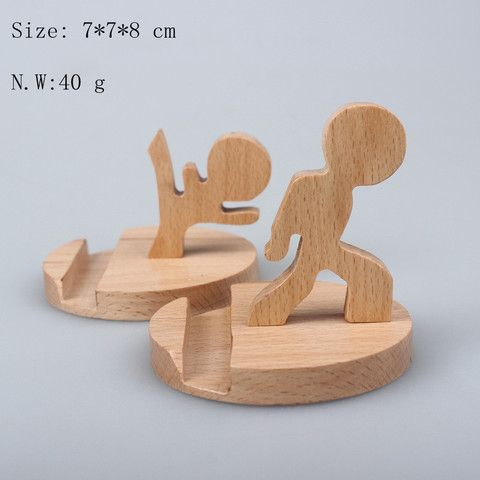 Creative Wood Stand for Mobile phone and Ipad