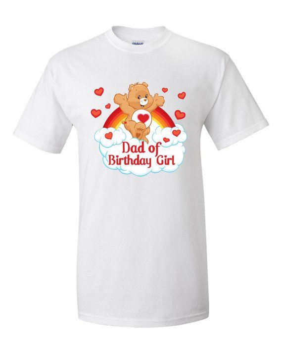 CareBears Birthday Girl Dad Personalized T-Shirt, Onesie, Romper, Tutu