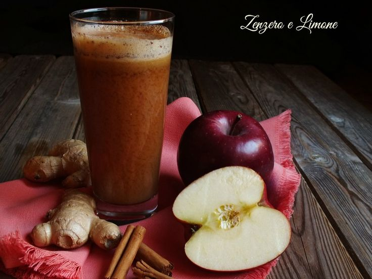Questo centrifugato a base di zenzero, mela e cannella è uno spezzafame perfetto. Se si sta seguendo una dieta è un'ottima soluzione.