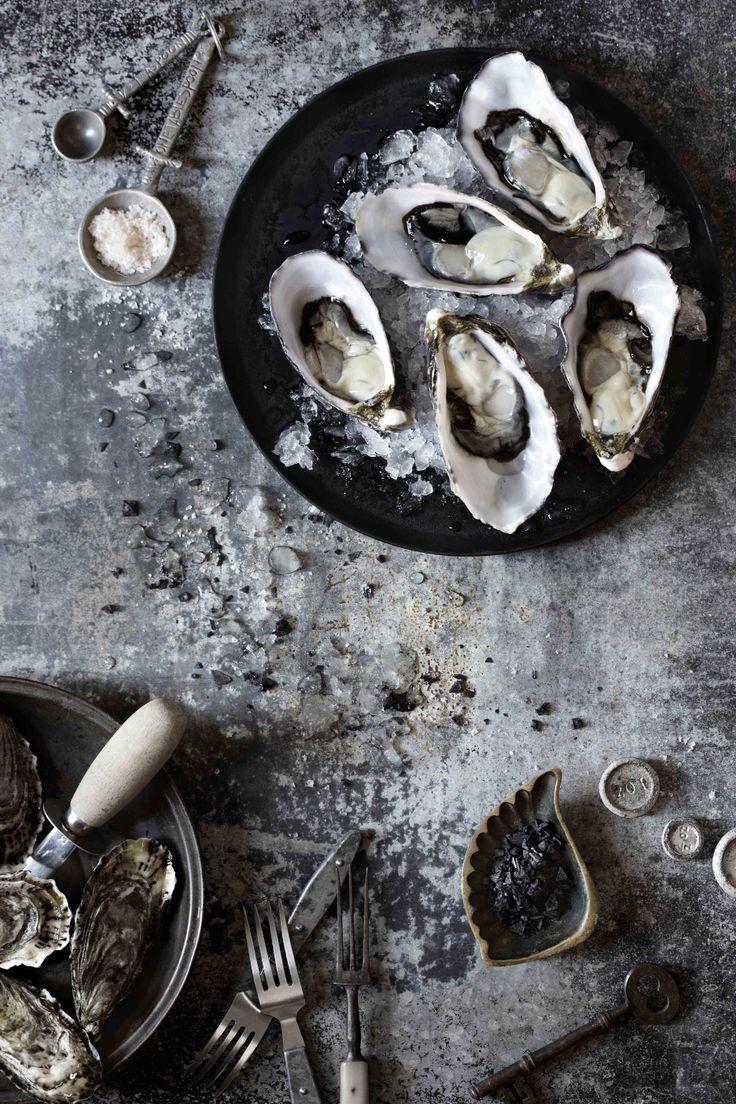 """Oysters Food & prop styling www.kirstybrysonf... Photography bechudson.com.au """"Pour moi, c'est un Super régal! Merci"""""""