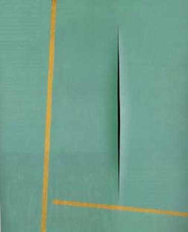 Concept Spatiale (1964, Slash Series) by Lucio Fontana