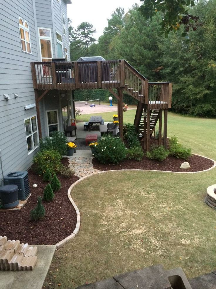 Landscaping Around Tall Deck : About outdoor living on fire pits back deck and patio