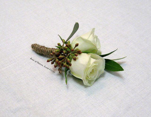 White spray rose boutonniere | Wedding Ideas | PinterestWhite Spray Rose Boutonniere
