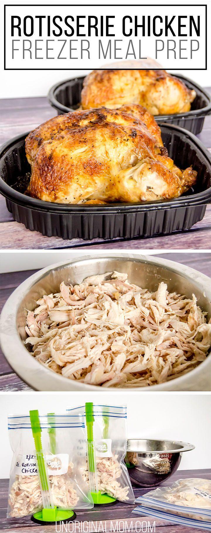 rotisserie chicken freezer meal prep