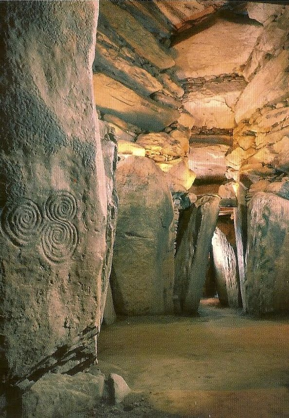 One of the earliest and most impressive works of European megalithic architecture is a passage grave, ca. 3200 to 2500 BCE, Newgrange, Ireland