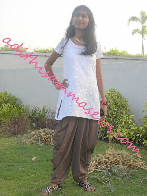 Dhoti Salwar + Kurta for Sis ! – Sewing Projects   BurdaStyle.com