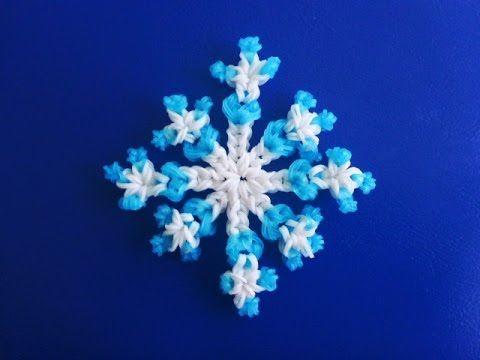 Schneeflocke Weihnachtsdeko Eiskristall Snowflake Weihnachten Loom Bands...