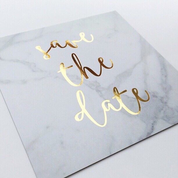 Marble and gold wedding stationary combination