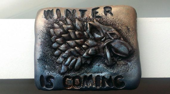 Winter is coming. GAME OF THRONES gift for men. Wolf by corosan