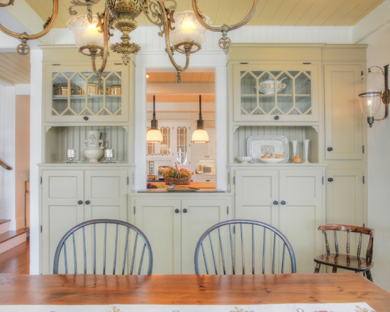 165 best images about passthrough ideas on pinterest antique white kitchens cabinets and islands for Pass through kitchen ideas
