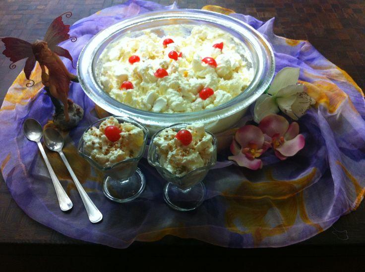 Receta: Ensalada de frutas Ambrosia / Ambrosia fruit salad