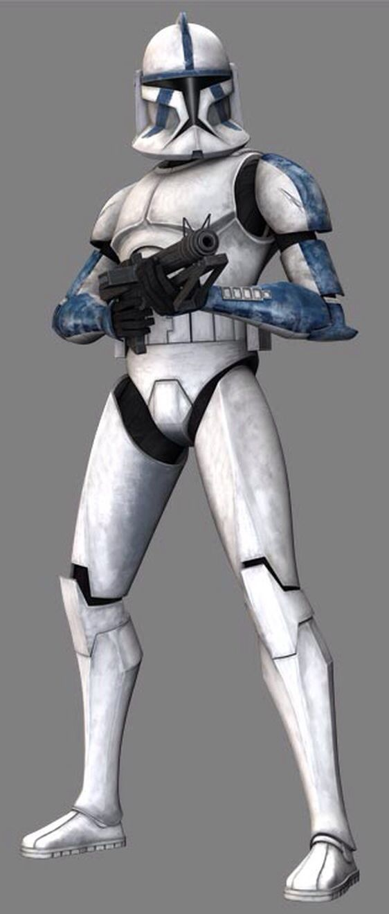 "Denal is a clone trooper in the elite 501st Legion. Considered one of the most experienced members of that unit, he survived many Clone Wars campaigns alongside Captain CT-7567—nicknamed ""Rex""—and Jedi General Anakin Skywalker. At the start of the war, Denal accompanied Rex, Skywalker, and Skywalker's Padawan Ahsoka Tano, on a mission to destroy Skytop Station."