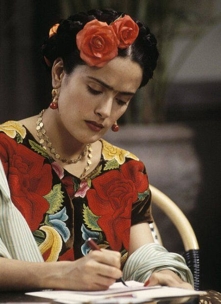 "Salma Hayek as Frida (2002)  ""At the end of the day, we can endure much more than we think we can."""
