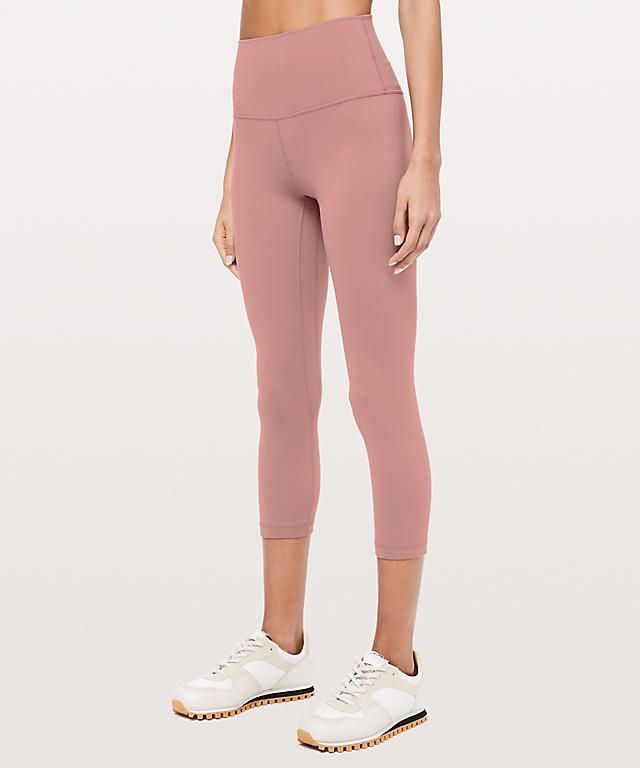 d17ca55c532ae Light pink women's leggings from Lululemon. Align crop pant. Want these!  #affiliate #fitness #outfit
