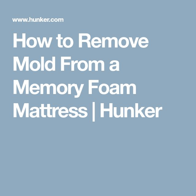 how to get rid of mold on mattress