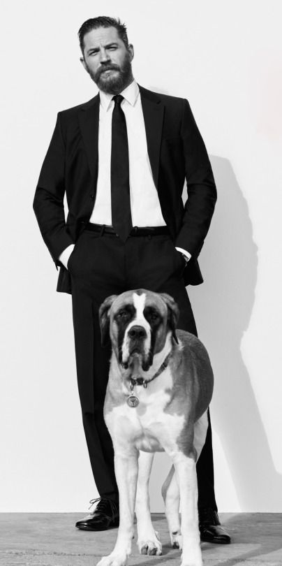 Tom Hardy (and Georgia) | Esquire UK, May 2015 | photograph by Greg Williams