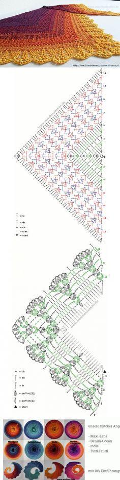 Häkelschrift Tuch Erigeneia