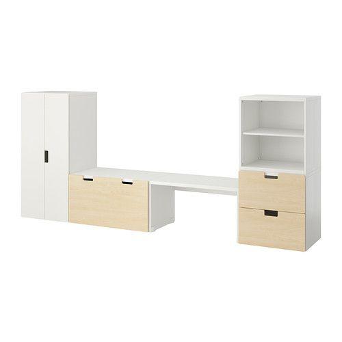 STUVA Banc de rangement - blanc/bouleau - IKEA