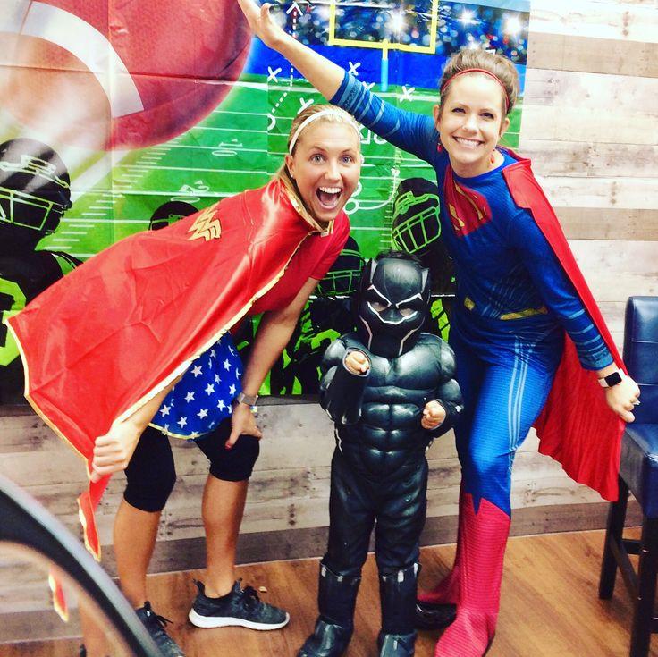 Wonder Woman and Batman! So sweet!! superhero spiritweek