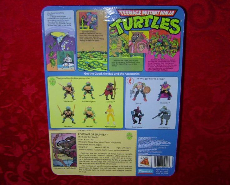 Teenage Mutant Ninja Turtles Splinter 1988 MOC TMNT Mirage Studios Playmates - Pre-1990