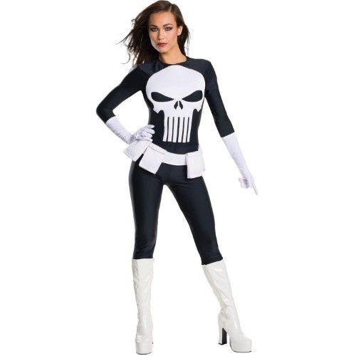 Punisher Secret Wishes Women's Adult Halloween Costume, Size: XS, Black – Jet