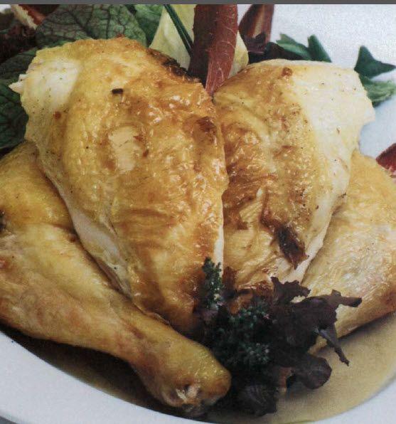 Resep sederhana ayam panggang yang moist didalam dan crispy keemasan dibagian luarnya ini menggunakan saus vinaigrette yg sudah diinfuse dengan bawang merah yang biasanya digunakan untuk salad. Tips untuk menghasilkan kulit yg crunchy dan bumbu yg meresap kedalam adalah dengan memulai memanggang disuhu tinggi, lalu perlahan diturunkan, sambil melapisi ayam dengan saus nya setiap 10-15...