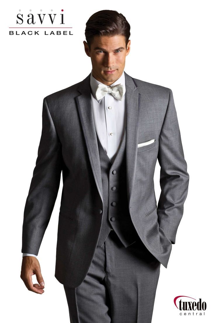 Asheville Tuxedo by Mitchell's - 'Kristoff' - Slim Fit - Medium Grey