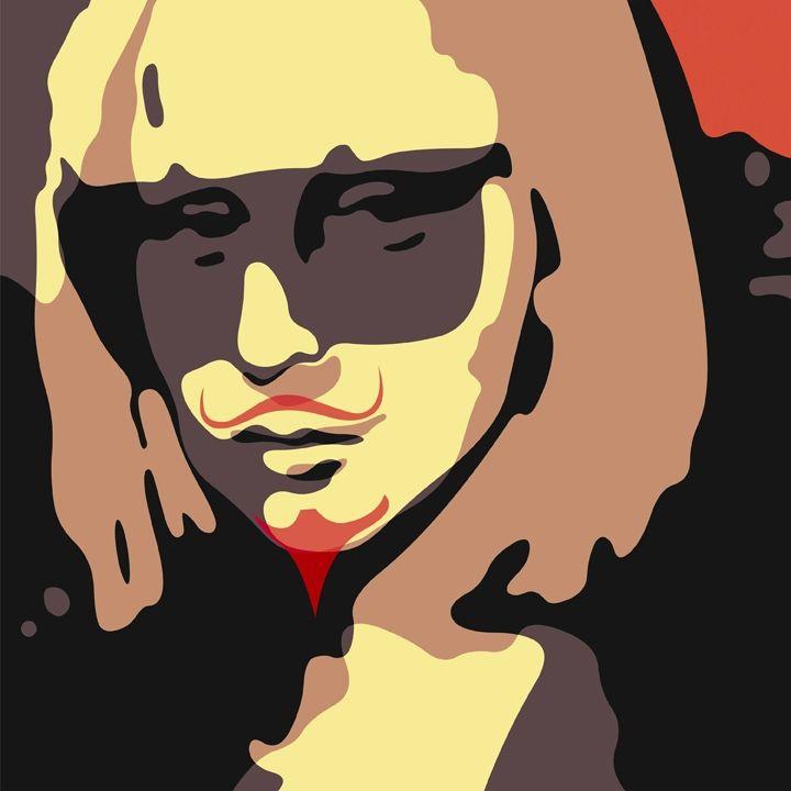 """Troy Gua: """"La Dada Gaga"""" (Marcel Duchamp's L.H.O.O.Q. + Lady Gaga)"""