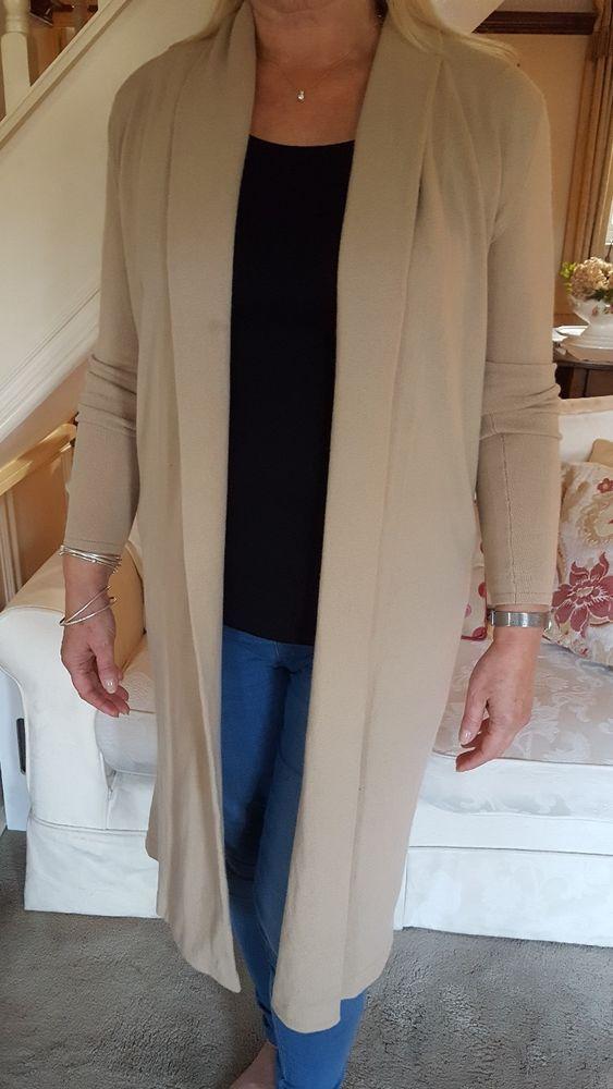 RALPH LAUREN BLACK LABEL cashmere camel coloured  long cardigan - used