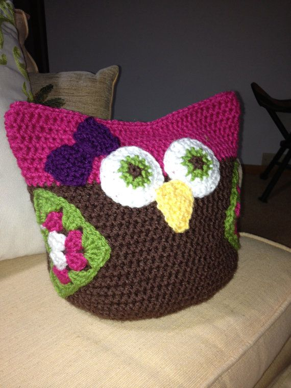 Free Crochet Pattern For Pot Holder Doll : PATTERN Crochet Toy - Owl Large and Small Toys, Crochet ...