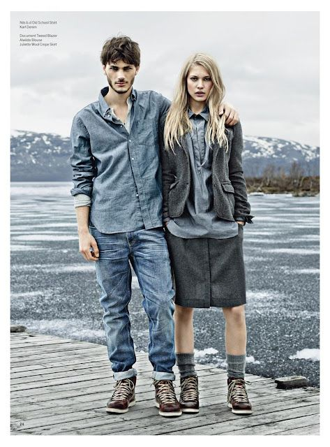 Boomerang Fall/Winter 2012 Campaign  I've been doin thee denim on denim/chambray glad others catching up!