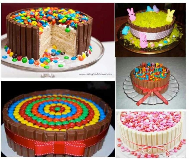 Decorating Cake With Kitkat : 17 Best images about Kit Kat Cakes on Pinterest Heart, Birthday cakes and Chocolate lovers
