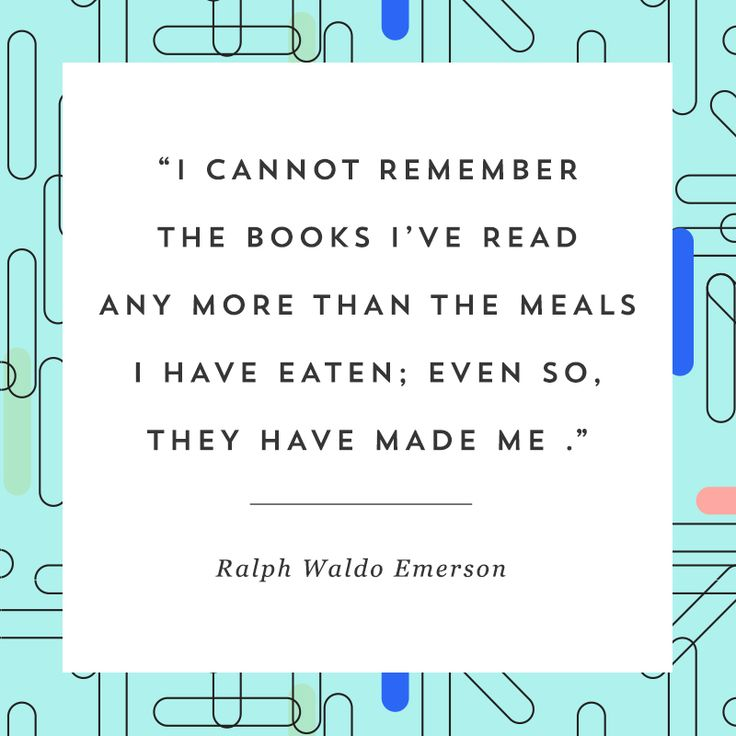 This quote about reading from Ralph Waldo Emerson will make you want to pick up…