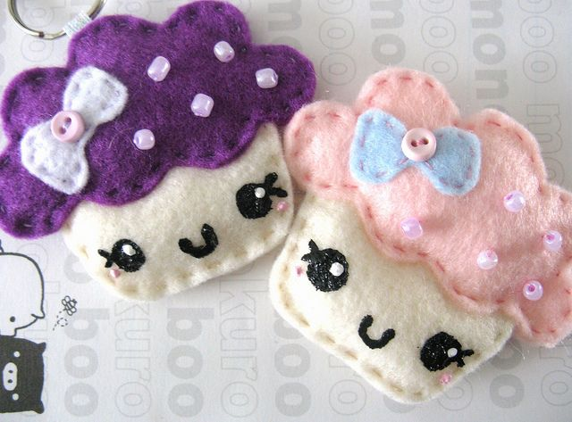 Custom Cupcake Plush Keychains by Berry Sweet Treats, via Flickr