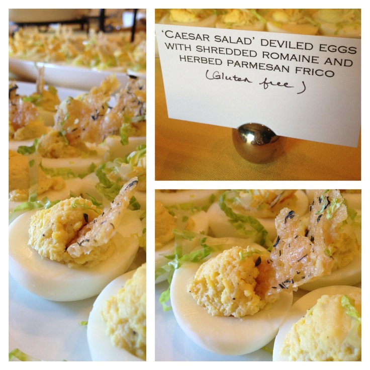 Caesar Salad Deviled Eggs for Rita Williams Retirement Party